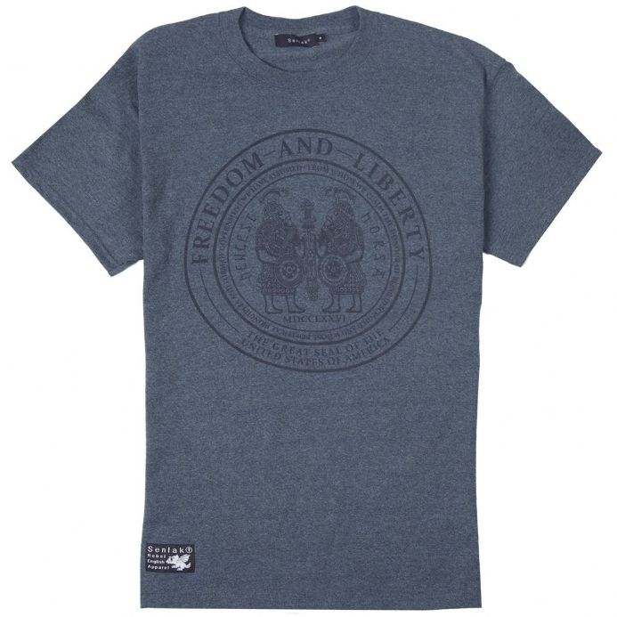 Senlak Ancestors T-shirt - Heather Navy